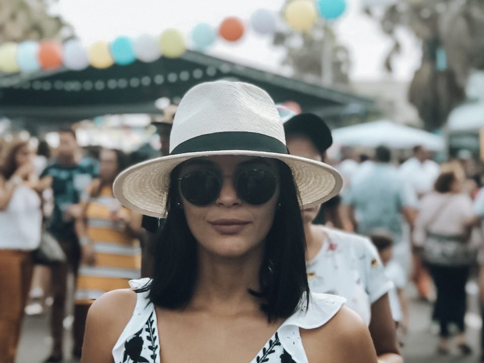 girl with a in a food festival