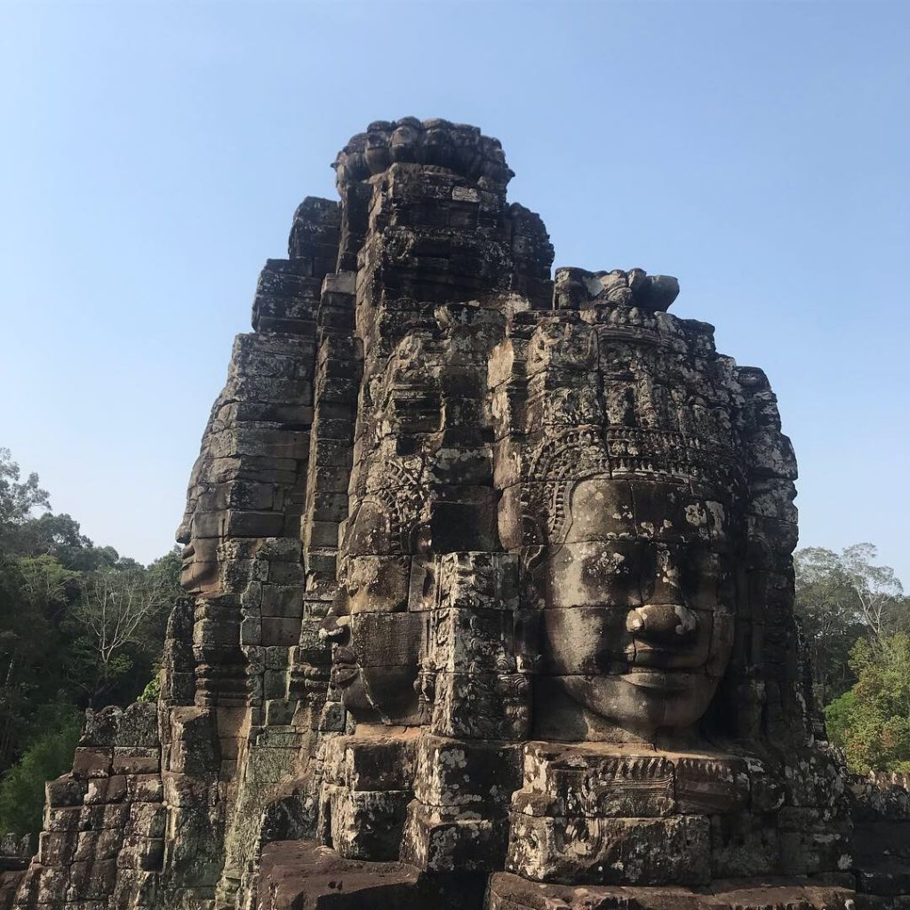 One of the temples in Angkor Wat