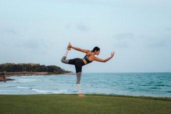 yoga girl oceanfront