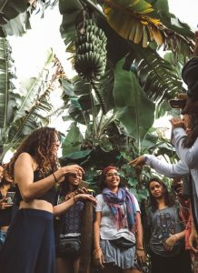 girls getting to know about dominican coffee