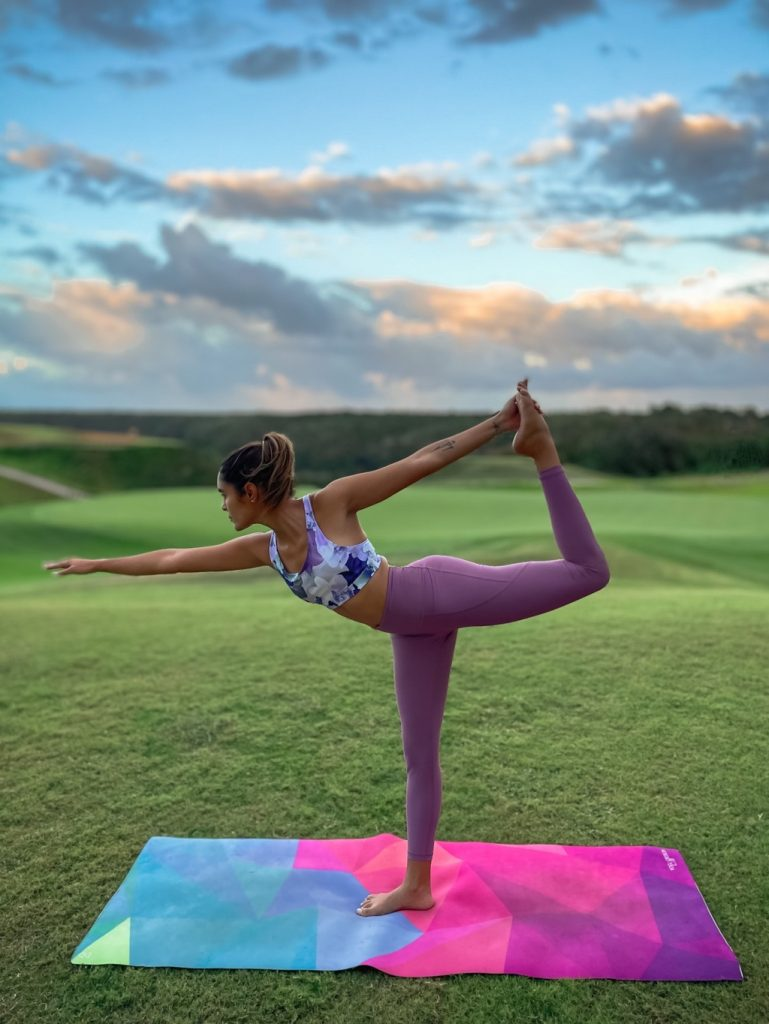 dancing yoga pose